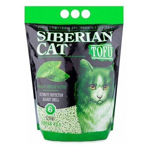 Комкующийся наполнитель Сибирская кошка TOFU Зеленый чай, 6 л