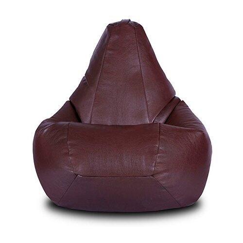 Шарм-Дизайн Кресло-мешок Груша коричневый кожа искусственная кожа