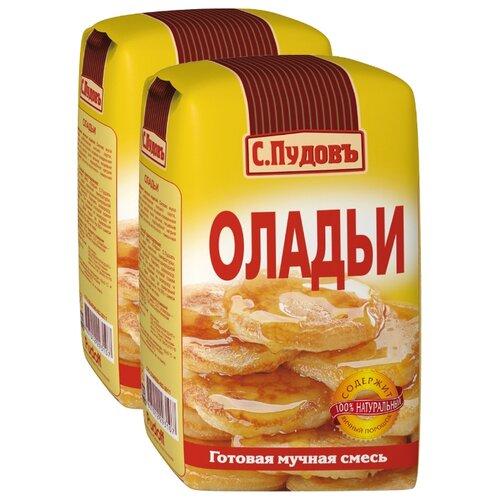 С.Пудовъ Мучная смесь Оладьи (2 шт.), 0.5 кг бейкервилль смесь мучная оладьи
