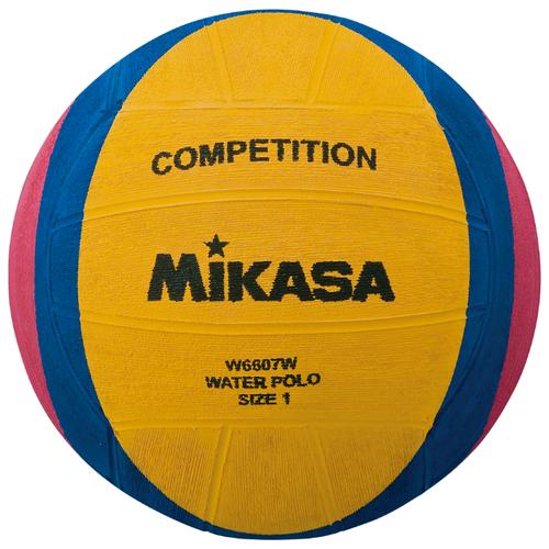 Мяч для водного поло Mikasa W6607W желтый/синий/розовый