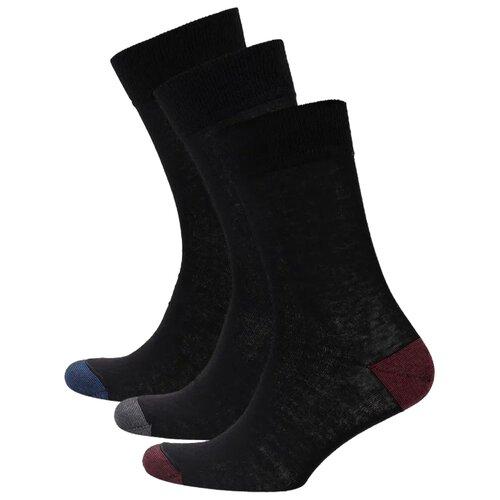 Носки DIM 06KL, 3 пары, размер 43-46, черный носки dim 06kl 3 пары размер 43 46 черный
