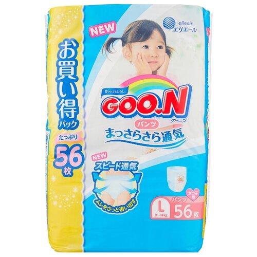 Goo.N трусики для девочек Ultra L (9-14 кг) 56 шт.Подгузники<br>