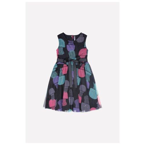 Купить Платье crockid Медузы размер 128, черный, Платья и сарафаны