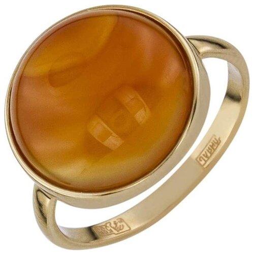 ALORIS Кольцо с 1 сердоликом из красного золота 554Сер, размер 18 фото