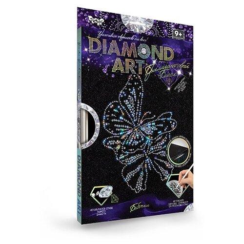 Купить Набор для создания мозаики.DIAMOND ART. Набор 4 Бабочки , Danko Toys, Алмазная вышивка