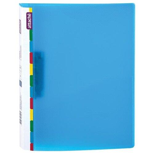 Купить Attache Папка с зажимом Diagonal А4, пластик синий, Файлы и папки