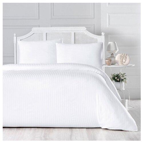 Постельное белье 1.5-спальное Arya Otel, сатин белыйКомплекты<br>