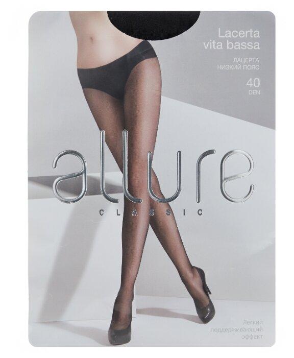 Купить Колготки ALLURE Classic Lacerta Vita Bassa 40 den, размер 4, nero (черный) по низкой цене с доставкой из Яндекс.Маркета