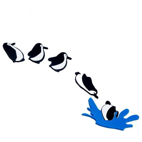 Наклейка на выключатель DS Studio Пингвины, объемные