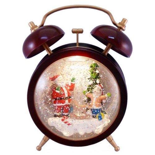Снежный шар Peha Новогодний будильник 19 см красный по цене 6 462