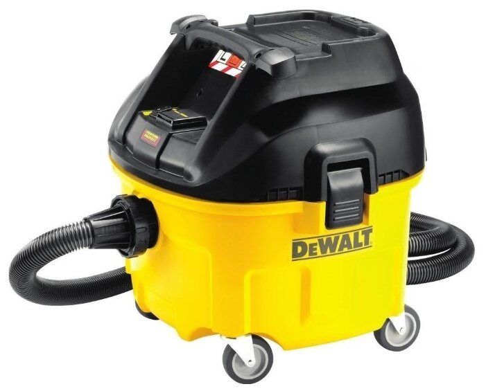 Купить Профессиональный пылесос DeWALT DWV901L 1400 Вт желтый/черный по низкой цене с доставкой из Яндекс.Маркета (бывший Беру)