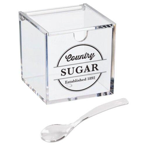 Сахарница D'casa Weston прозрачный с тематическим принтом