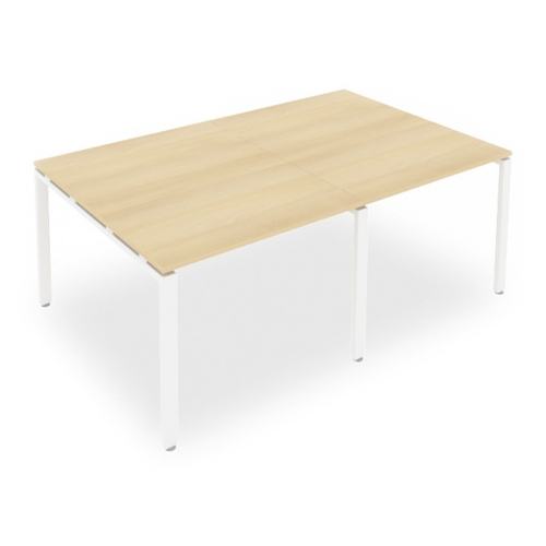 Стол для переговоров Рива Metal System Style Б.ПРГ-2.1, ДхШ: 200 х 123.5 см, акация/белый по цене 21 211