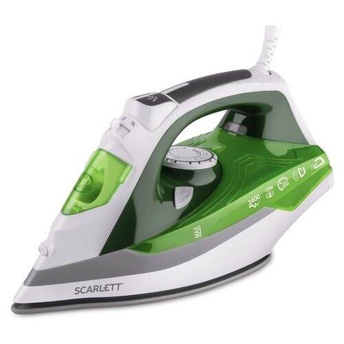 Утюг Scarlett SC-SI30P06 зеленый/серый/белый scarlett sc hs60t52 серый
