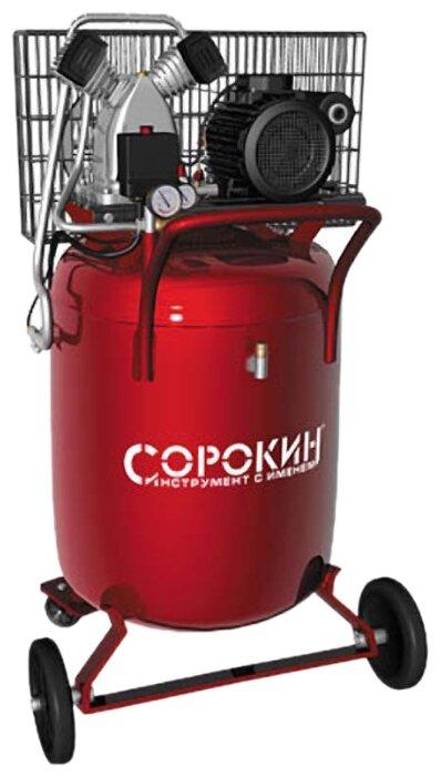 Компрессор масляный СОРОКИН 13.25, 100 л, 2.2 кВт