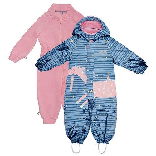 Купить Комбинезон Oldos Ненси размер 80, пастельно-голубой, Теплые комбинезоны