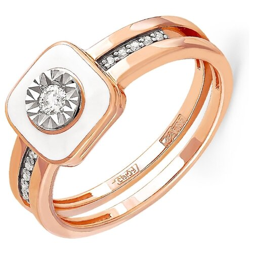 Фото - KABAROVSKY Кольцо с 11 бриллиантами из красного золота 11-0804-1010, размер 18 kabarovsky кольцо с 11 бриллиантами из белого золота 11 1803 1010 размер 17