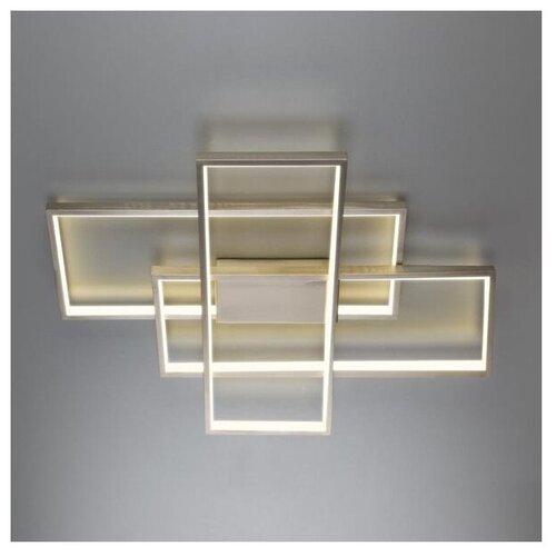 Фото - Светильник светодиодный Eurosvet Direct 90177/3 сатин-никель, LED, 65 Вт светильник eurosvet потолочный светодиодный 90177 3 сатин никель