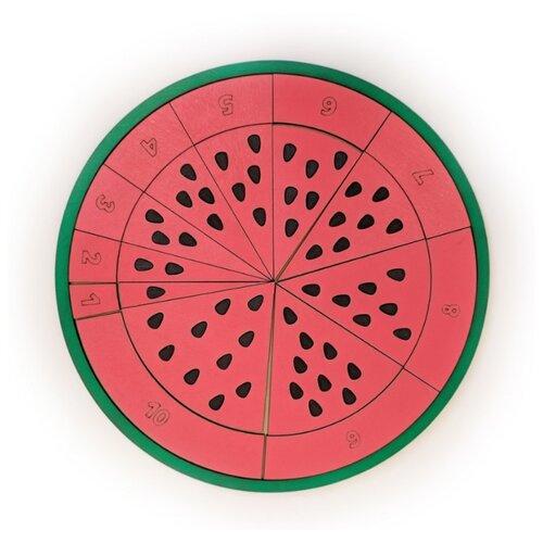 Развивающая игра ЧудоЧадо Сочный арбуз Ч051 зеленый/красный/черный