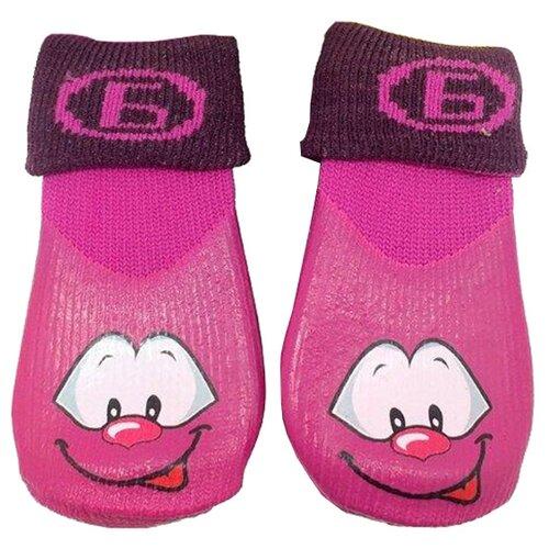 Носки для собак БАРБОСки прогулочные с высоким латексным покрытием №4 L фиолетовый