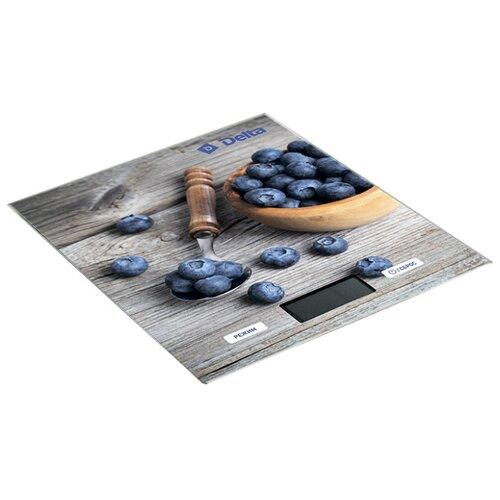 цена на Кухонные весы DELTA КСЕ-36 серый/фиолетовый