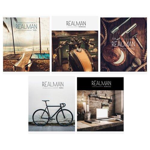 Купить ArtSpace Упаковка тетрадей Стиль. Realman Т96к_12204, 5 шт./5 дизайнов, клетка, 96 л., Тетради