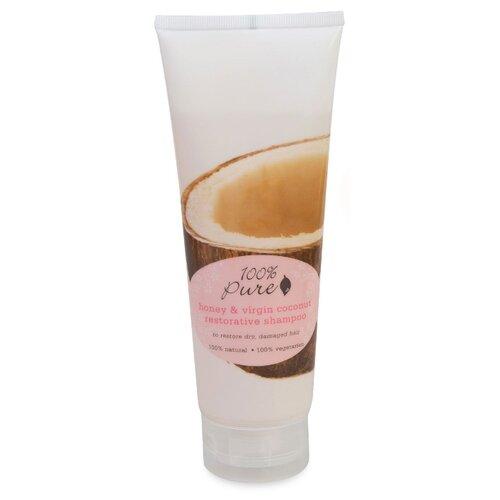 100% Pure шампунь Honey & Virgin Coconut Restorative тонизирующий 236 мл шампунь honey