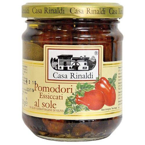 Томаты сушеные в оливковом масле Extra Virgine Casa Rinaldi стеклянная банка 200 г
