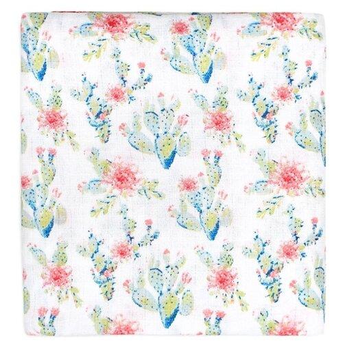 Купить Многоразовые пеленки GlorYes! муслиновая 120х120 цветущие кактусы, Пеленки, клеенки
