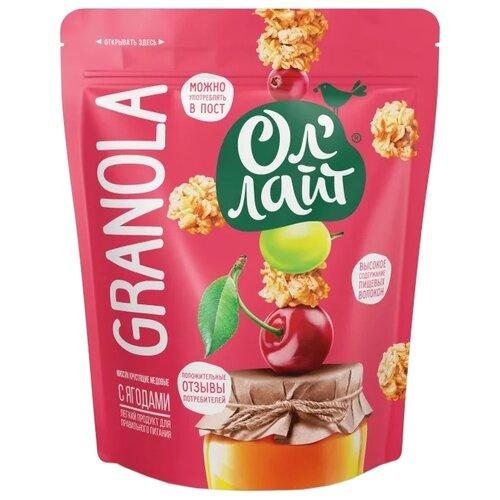 Гранола Ол' Лайт медовая с ягодами, дой-пак, 280 г
