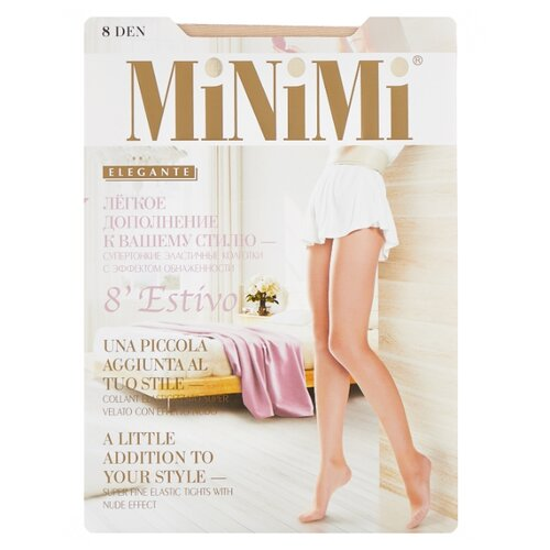 Колготки MiNiMi Estivo (Nudo) 8 den, размер 4-L, daino (бежевый) колготки minimi body form 40 den размер 4 l daino бежевый