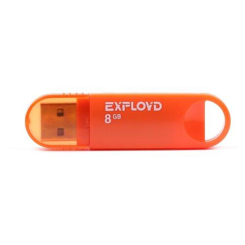Фото - Флешка EXPLOYD 570 8GB orange игрушка orange toys бегемот в оранжевой толстовке 30cm ms6204 30