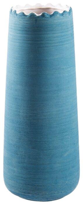 Ваза Русские Подарки, 114618, голубой, высота 30 см