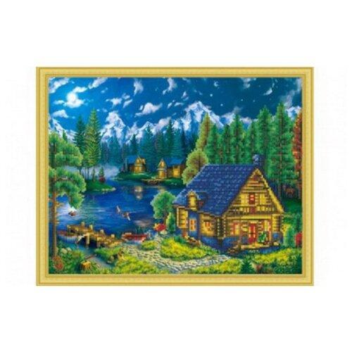 Купить Рыжий кот Набор алмазной вышивки Лунная ночь (ASD5001) 40х50см, Алмазная вышивка