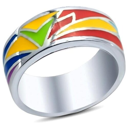 цена на Silver WINGS Кольцо с эмалью из серебра 21qsjud00635mix2-19, размер 17.5