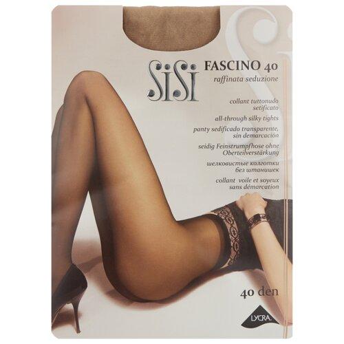 Фото - Колготки Sisi Fascino, 40 den, размер 5-MAXI XL, bambu (бежевый) колготки sisi fascino 20 den размер 5 maxi xl miele бежевый