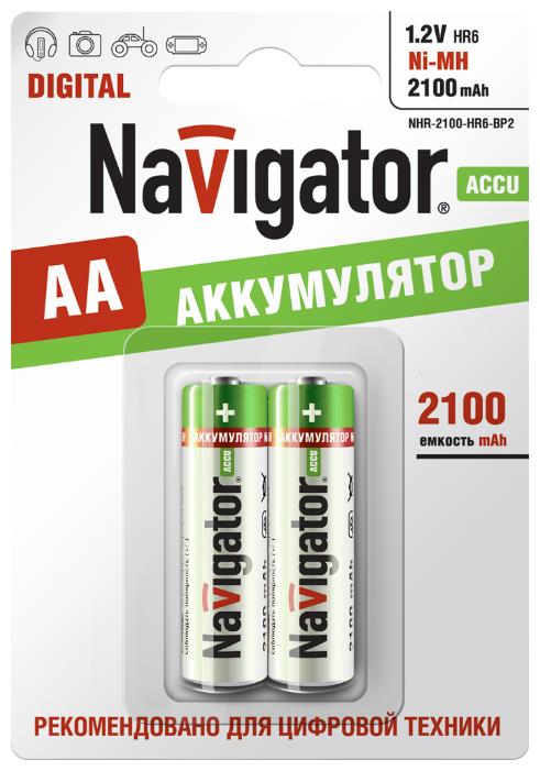 Аккумулятор Ni-Mh 2100 мА·ч Navigator NHR-2100-HR6