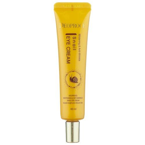 Купить Deoproce Крем для век с экстрактом улитки Whitening & Anti-Wrinkle Snail Eye Cream, 40 мл