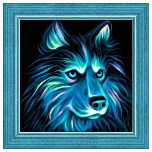 Купить Алмазная живопись Набор алмазной вышивки Неоновый хаски (АЖ-1711) 25х25, Алмазная вышивка