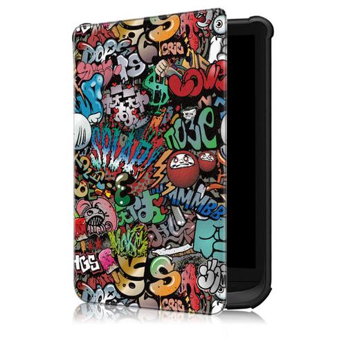 Чехол-обложка MyPads для PocketBook 627/ PocketBook 616/ PocketBook 632 из качественной эко-кожи с функцией включения-выключения и возможностью быстрого снятия тематика Надписи