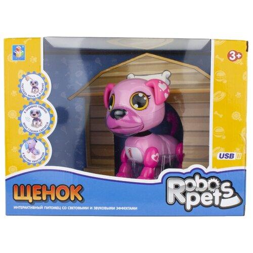 Купить Робот 1 TOY Robo Pets Щенок Т16798 розовый, Роботы и трансформеры