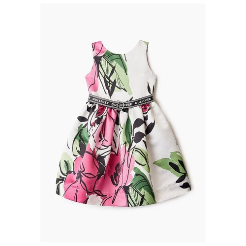 Платье Gulliver размер 146, розовый/принт