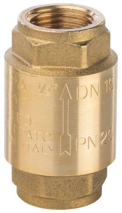 Обратный клапан пружинный STOUT SVC-0001-000015 муфтовый (ВР/ВР), латунь
