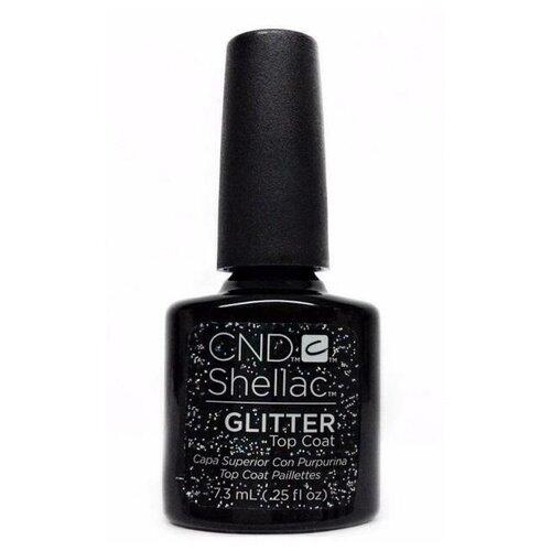 CND верхнее покрытие Shellac Glitter Top Coat 7.3 мл glitter недорого