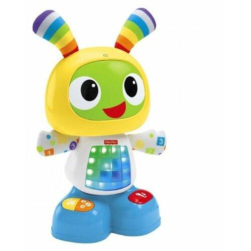 Купить Интерактивная развивающая игрушка Fisher-Price Веселые ритмы. Обучающий робот Бибо (DJX26) желтый, Развивающие игрушки