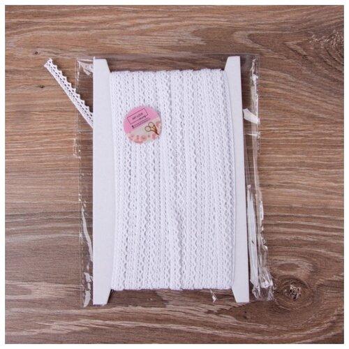 Купить Кружево Арт Узор вязаное пришивное 8 мм, 15 м белый, Декоративные элементы