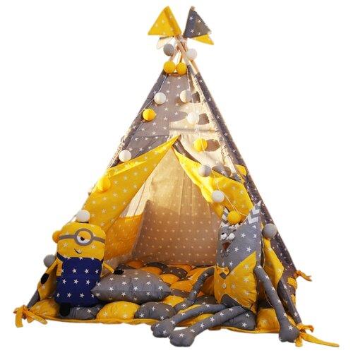 Палатка ВИГВАМиЯ максимальный с бомбоном солнечный домик