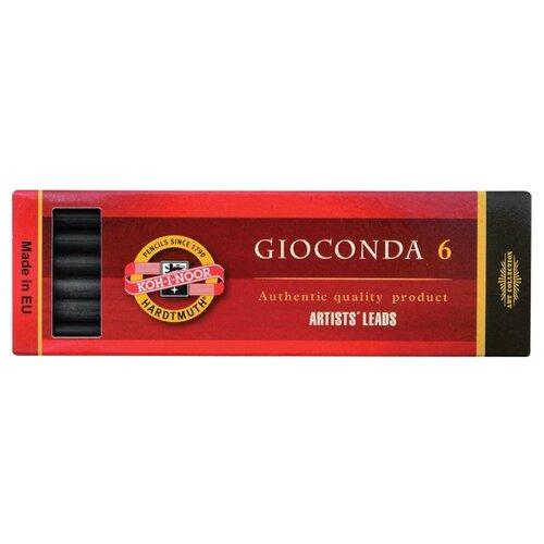Купить KOH-I-NOOR Уголь искусственный Gioconda, 6 шт (8673/2) черный, Пастель и мелки