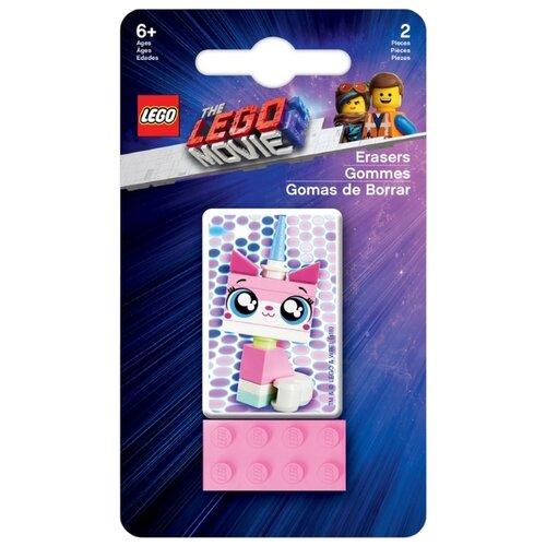 Купить LEGO Набор ластиков Movie 2 Unikitty 2 шт. розовый/белый, Ластики