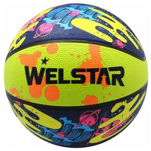 Баскетбольный мяч WELSTAR BR2814D-5, р. 5 разноцветный
